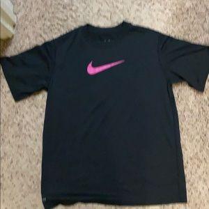 Boys black w/ hot pink Nike Dri-Fit tshirt